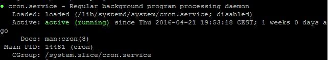 Cron Service Status
